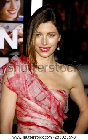 Jessica Biel at the Los Angeles premiere of 'Valentine's Day' held at the Grauman's Chinese Theater in Hollywood on February 8, 2010.