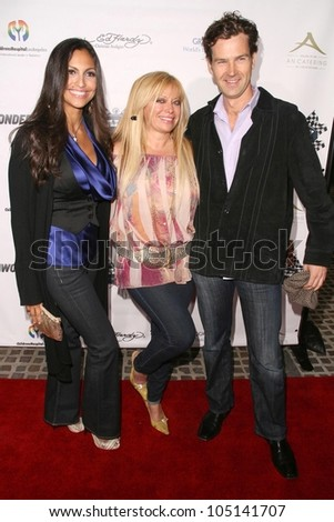 Jessica Camacho with Gloria Kisel and Derek Hill  at the Rally For Kids With Cancer 'The Winner's Circle' Gala Dinner. Private Location, Beverly Hills, CA. 05-02-09