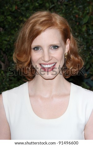 Jessica Chastain at a Benefit Dinner For The Natural Resources Defense Council's Ocean Initiative hosted by Chanel, Privaye Location, Malibu, CA. 06-04-11 - stock photo