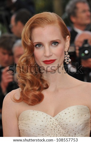 "Jessica Chastain at the gala screening of ""Madagascar 3:Europe's Most Wanted"" at the 65th Festival de Cannes. May 18, 2012  Cannes, France Picture: Paul Smith / Featureflash"