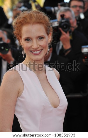Jessica Chastain at the premiere of Moonrise Kingdom - the gala opening of the 65th Festival de Cannes. May 16, 2012  Cannes, France Picture: Paul Smith / Featureflash