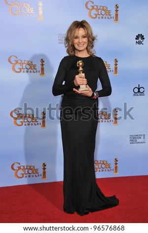 Jessica Lange at the 69th Golden Globe Awards at the Beverly Hilton Hotel. January 15, 2012  Beverly Hills, CA Picture: Paul Smith / Featureflash - stock photo