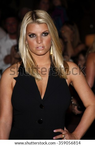 Jessica Simpson at the Operation Smile's 8th Annual Smile Gala held at the Beverly Hilton Hotel in Beverly Hill, California, United States on October 2, 2009.  - stock photo
