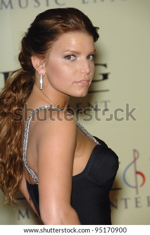 JESSICA SIMPSON at the Sony BMG post-Grammy Party at the Beverly Hills Hotel. February 12, 2007  Beverly Hills, CA Picture: Paul Smith / Featureflash