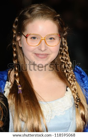 "Jessie Cave at the premiere for ""Great Expectations"" being shown as the closing film of the London Film Festival 2012, Odeon Leicester Square, London. 21/10/2012 Picture by: Steve Vas - stock photo"
