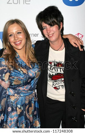 Jessie Collins and Diane Warren at the Warner Music Group 2007 Grammy After Party. The Cathedral,  Los Angeles, CA. 02-11-07 - stock photo