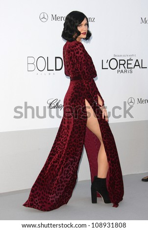 Jessie J arriving at AmfAR's Cinema Against Aids gala 2012 during the 65th annual Cannes Film Festival, Cannes, France. 24/05/2012 Picture by: Henry Harris / Featureflash - stock photo