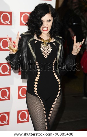 Jessie J arriving for the Q magazine Awards 2001 at the Grosvenor House Hotel, London. 24/10/2011 Picture by: Steve Vas / Featureflash - stock photo