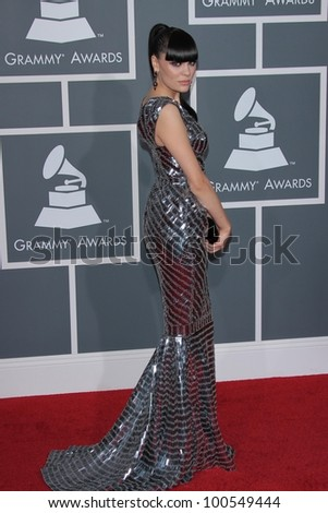 Jessie J at the 54th Annual Grammy Awards, Staples Center, Los Angeles, CA 02-12-12 - stock photo