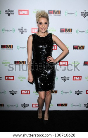 Jessie Malakouti at the EMI Music 2012 Grammy Awards Party, Capital Records, Hollywood, CA 02-12-12 - stock photo