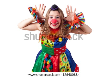 jester acting - stock photo