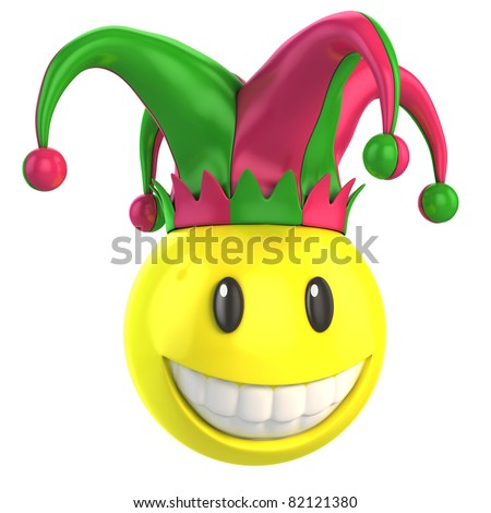 jester smiley - stock photo