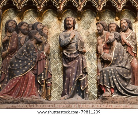 Jesus and apostles - Notre-Dame cathedral in Paris