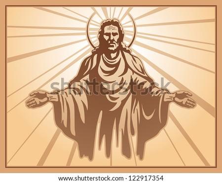 Jesus Christ, blessing, Christianity - stock photo