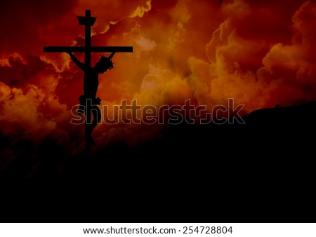 Jesus Christ on a Cross-Good Friday - stock photo