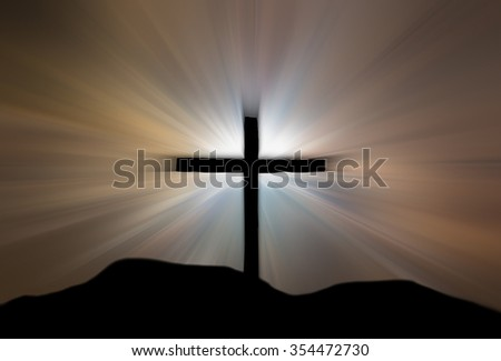 jesus cross - stock photo