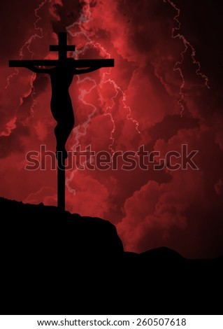 Jesus crucifixion-The Crucifixion of Jesus Christ - stock photo