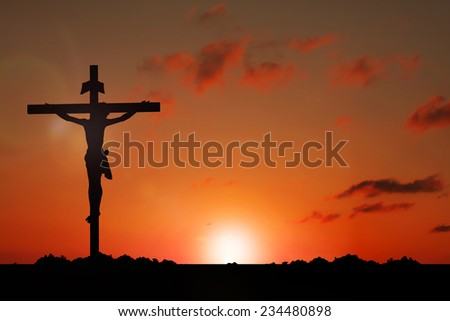 Jesus on Cross - stock photo
