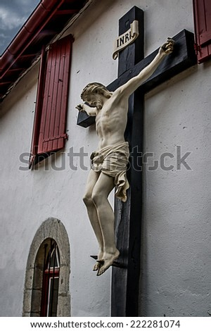 Jesus on the cross - stock photo