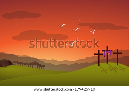 Jesus resurrection - stock photo