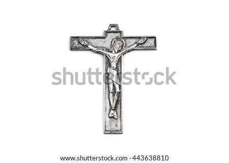 Jesus's Cross on white background