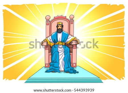 Jesus sits on his throne heaven stock illustration 544393939 jesus sits on his throne in heaven altavistaventures
