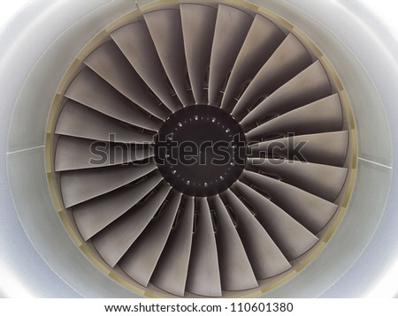 Jet Aero Engine Turbine - stock photo
