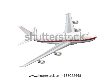 jet aircraft isolated on white background with clipping path - stock photo