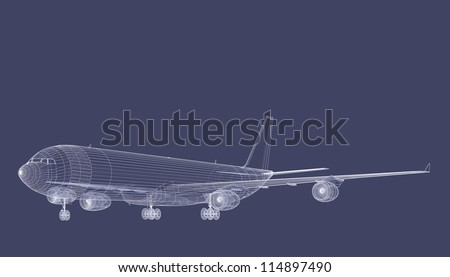 Jet Airliner - stock photo