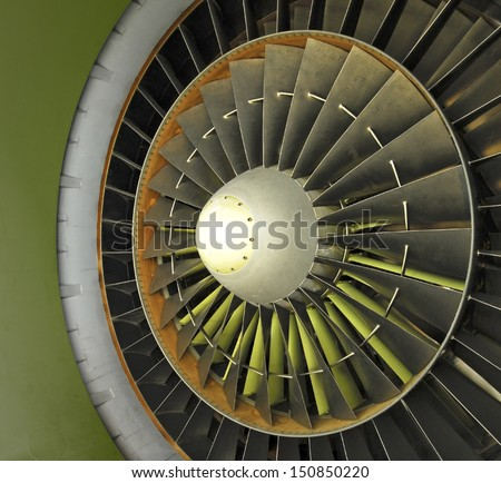 Jet Engine Intake Fan