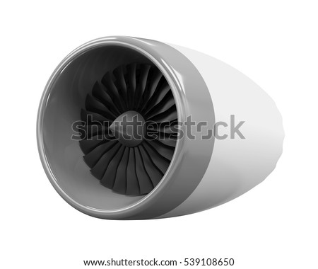Jet Engine Isolated. 3D rendering