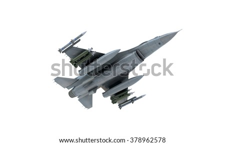 jet f 16 isolate on white background military fighter plane