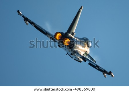 Jet Fighter Afterburner Stock Photo Royalty Free 498569800
