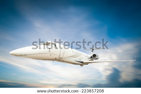 jet in the sky - stock photo