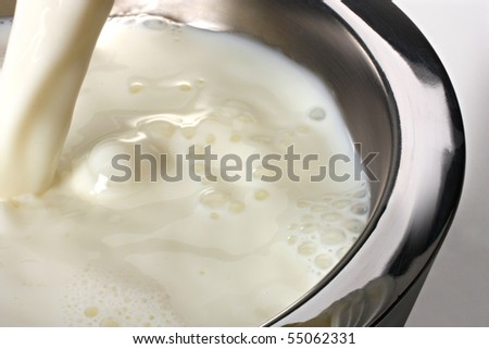 Jet Milk and bubbles - stock photo