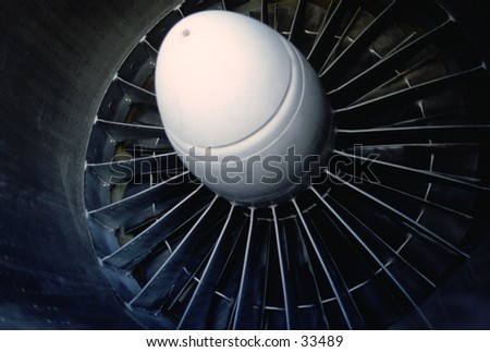 Jet plane engine - stock photo