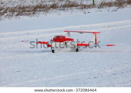 jet radio control plane - stock photo