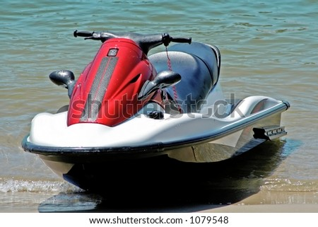 jet ski front view - stock photo