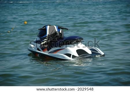 Jet-ski on the ocean - stock photo