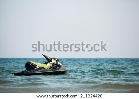 jet ski on the sea - stock photo