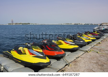 Jet ski parking Obhur - Saudi arabia