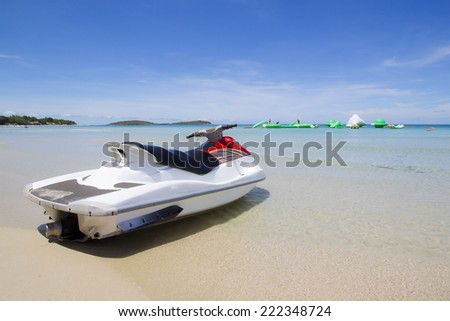 jet ski sport of samui - stock photo
