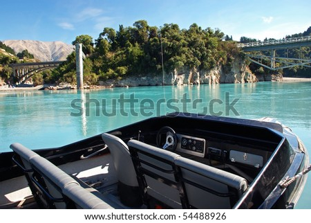 Jetboating in Rakaia Gorge, New Zealand