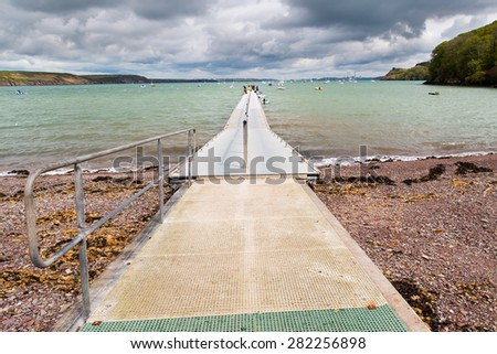 Jetty at Dale  a small village on the Pembrokeshire coast of West Wales UK Europe - stock photo
