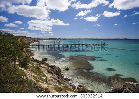 Jetty in Vivonne Bay, Kangaroo Island of Australia