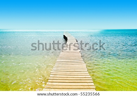 Jetty into Heaven - stock photo