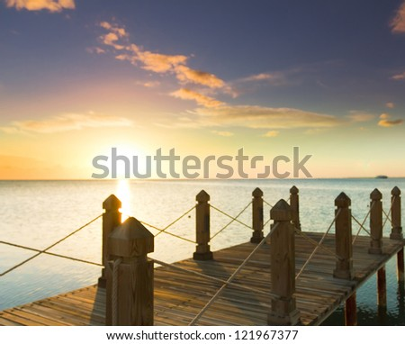 Jetty into Sunrise Heaven