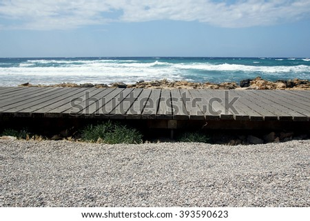 jetty on the beach background