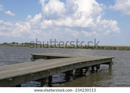 Jetty on the lake