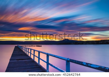 Jetty Sunset. This 150 second exposure at Lake Illawarra in NSW, Australia. The jetty is one of many that dot the lake, this one just faced the ideal direction for the light I wanted to capture.